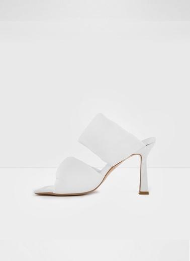 Aldo Bari-Tr - Beyaz Topuklu Terlik Beyaz